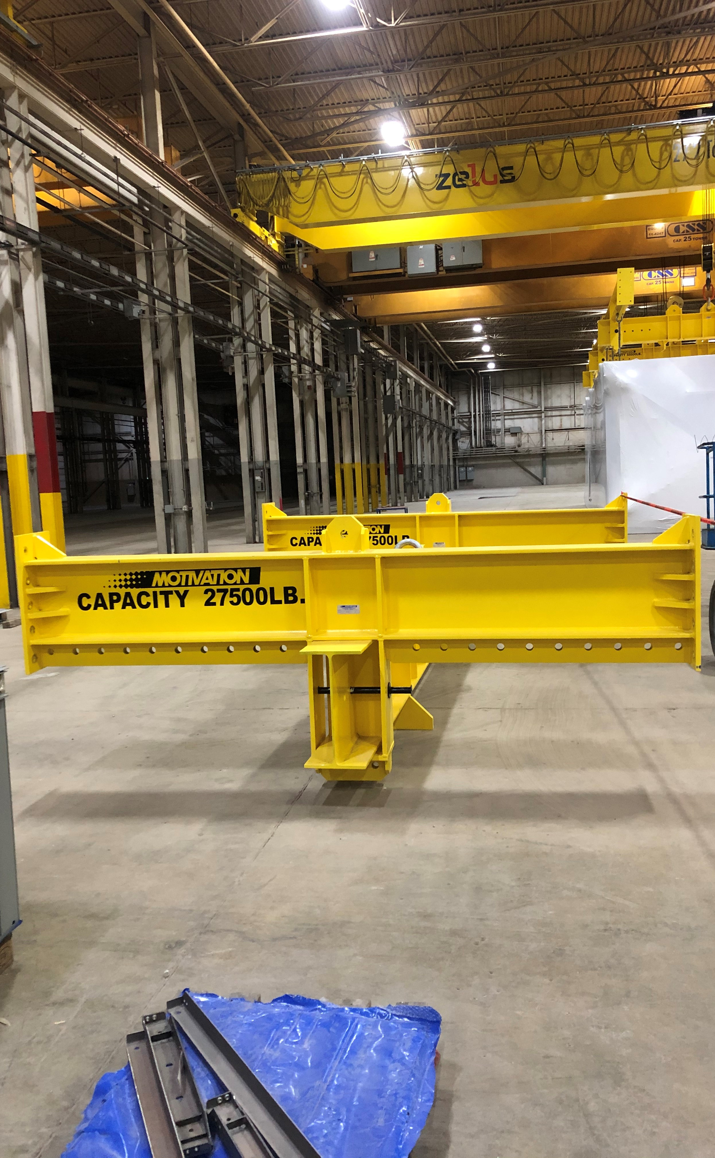 Case Study- Custom Modular Lifting Beam Assembly to Lift 47 Different Product Configurations