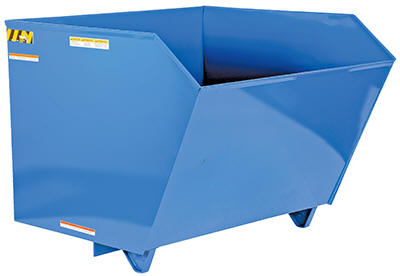 Low Profile 90° Self-Dumping H Style Steel Hoppers