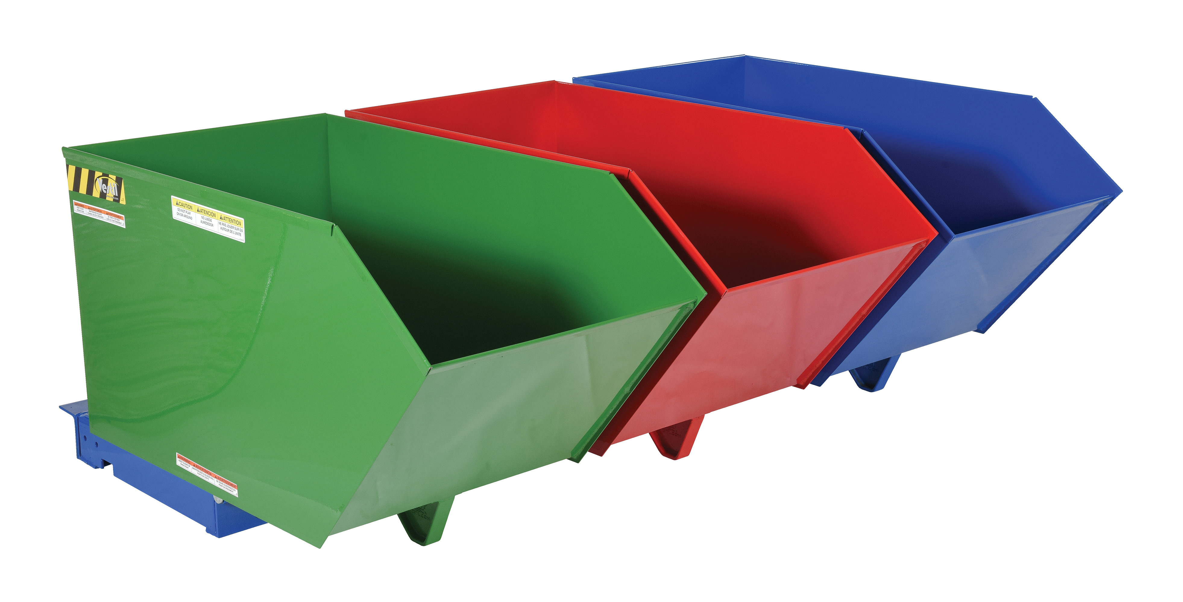 Triple-Bin Recycling Hopper