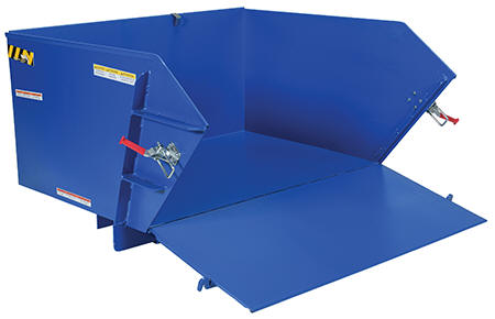 Self-Dumping Steel Hopper with Fold Down Front